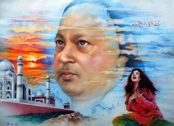 Bollywood Wall Art - Drawing - Nusrat Fateh Ali Khan The Great by Ayub Majeed