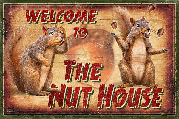 Painting - Nut House 2 by JQ Licensing