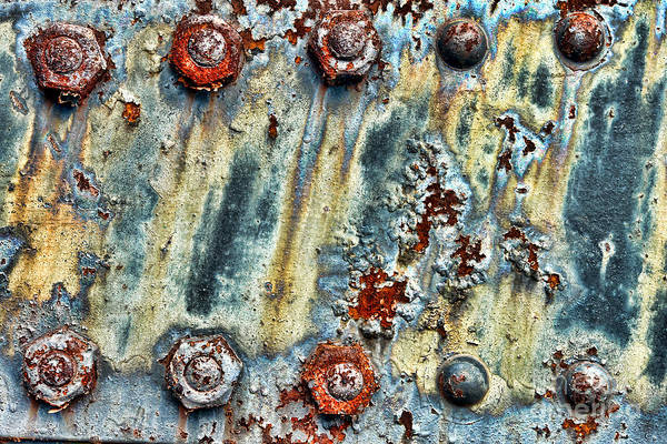 Peeling Photograph - Nuts And Rivets  by Olivier Le Queinec