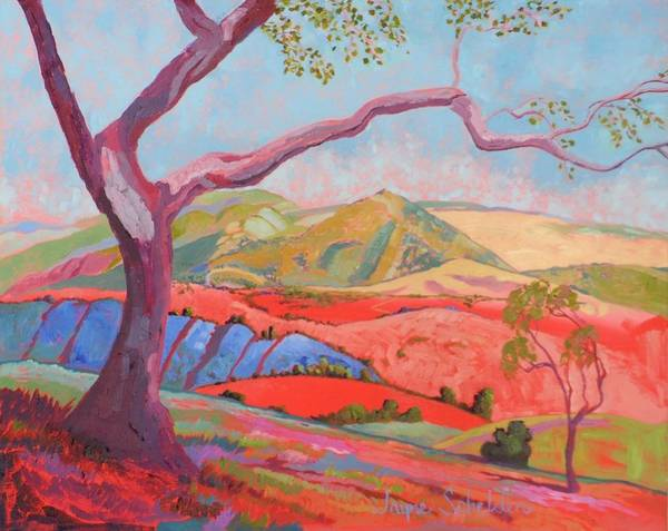 Sycamore Painting - Nw View Ontario Ridge by Jayne Schelden