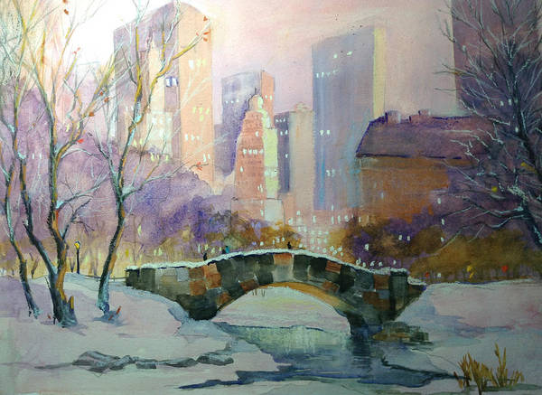 Painting - Ny Central Park Evening by Judy Fischer Walton