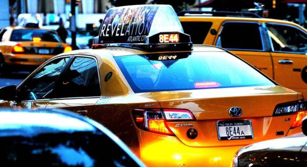 Wall Art - Photograph - Ny City Taxi Cab At Twilight Manhattan by Ron Bartels