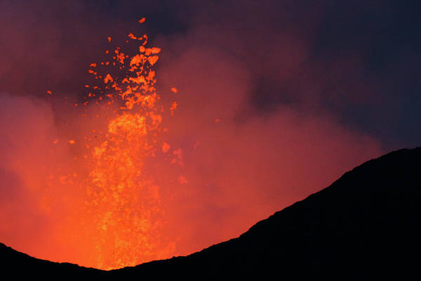 Volcanic Craters Photograph - Nyamulagira Volcano Eruption by Richard Collins