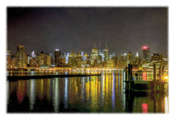 Photograph - Nyc At Night Faux Oil by Jorge Perez - BlueBeardImagery