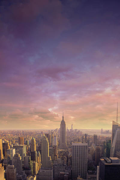 Vertical Landscape Photograph - Nyc At Sunset by Bluberries