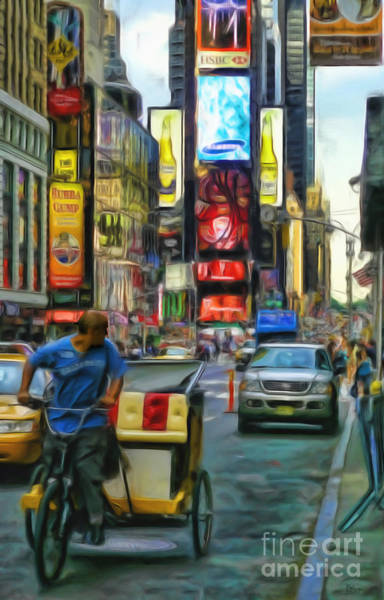 Photograph - Nyc Bike Taxi by Jeff Breiman