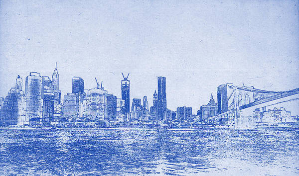 Painting - Nyc Blueprint by Celestial Images