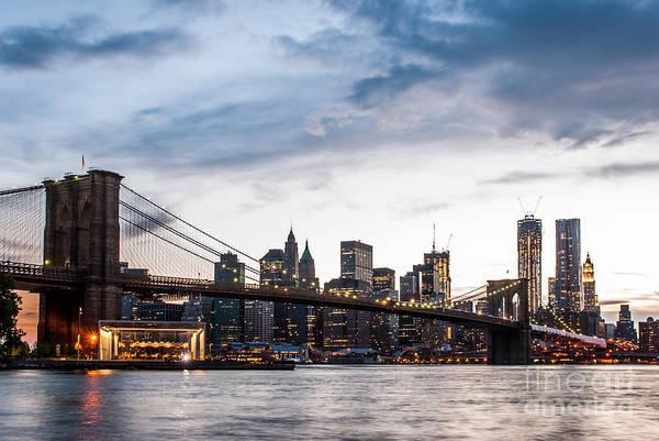 Photograph - Nyc Brooklyn Bridge by Hannes Cmarits