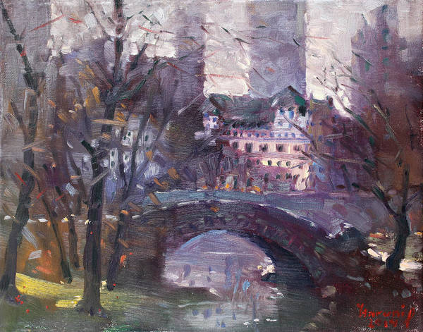 Wall Art - Painting - Nyc Central Park II by Ylli Haruni