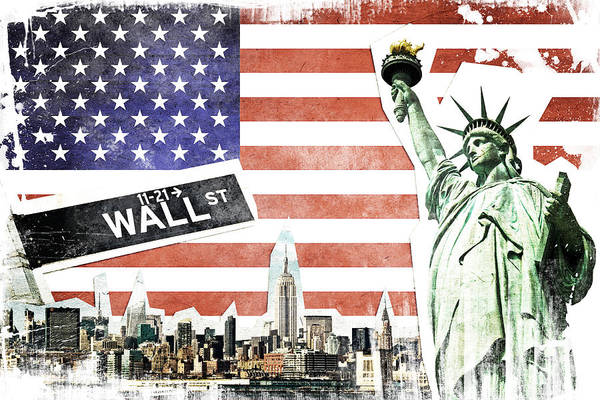 Wall Art - Photograph - Nyc Collage by Delphimages Photo Creations