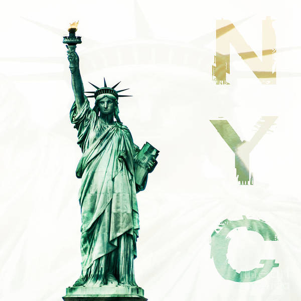 Photograph - Nyc- Lady Liberty by Hannes Cmarits
