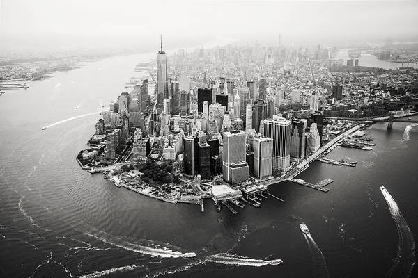 Wall Art - Photograph - Nyc Manhattan Aerial by Nina Papiorek