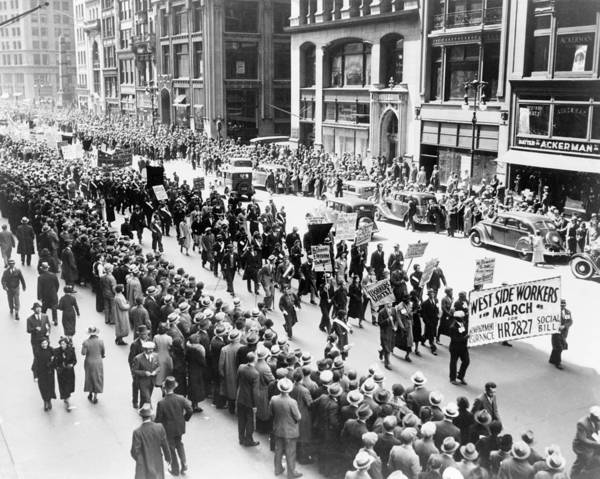 Wall Art - Photograph - Nyc May Day, C1939 by Granger