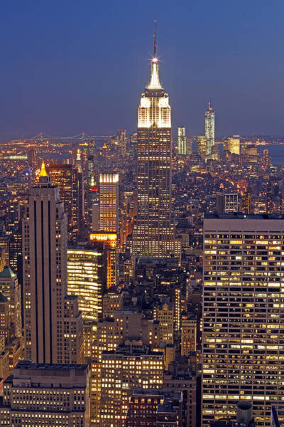 Photograph - Nyc Midtown And Downtown by Juergen Roth