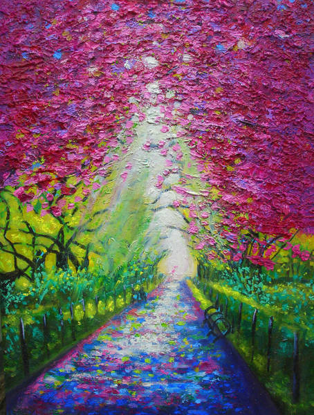 Susi Wall Art - Painting - Nyc Spring In Central Park by Susi Franco