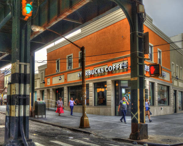Photograph - Nyc Starbucks by Joann Vitali