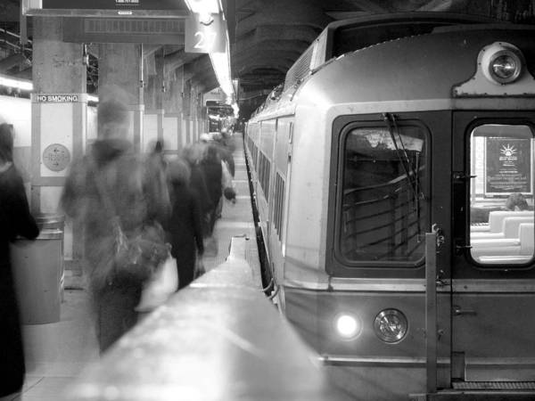 Wall Art - Photograph - Metro North/ct Dot Commuter Train by Mike McGlothlen