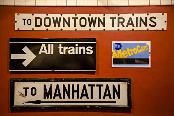 Photograph - Nyc Subway Signs by Susan Candelario