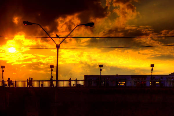 Photograph - Nyc Subway Sunset by Joann Vitali