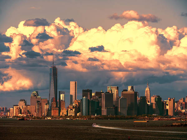 Photograph - Nyc Sunset Cloudbank by S Paul Sahm