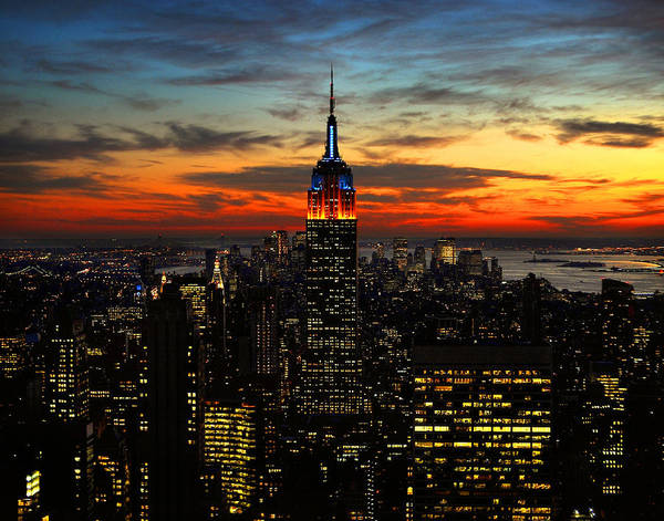 Photograph - Nyc Sunset by Val Stone Creager