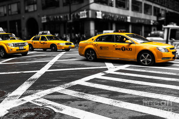 Photograph - Nyc  Yellow Cab - Cki by Hannes Cmarits