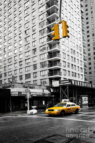 Photograph - Nyc  Yellow Cab At The Crossroad by Hannes Cmarits