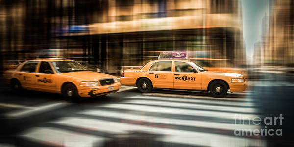 Photograph - Nyc Yellow Cabs by Hannes Cmarits