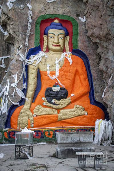 Photograph - Nyetang Great Buddha by Hitendra SINKAR