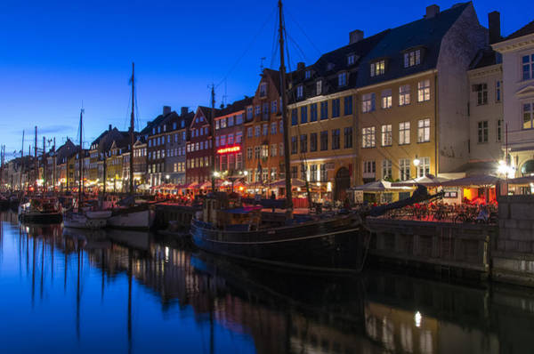 Photograph - Nyhavn By Night Part 2 by Ross G Strachan