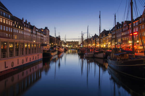 Photograph - Nyhavn By Night by Ross G Strachan