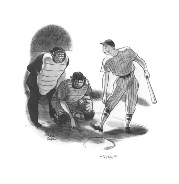 Sports Uniform Drawing - Nylon! by Richard Decker