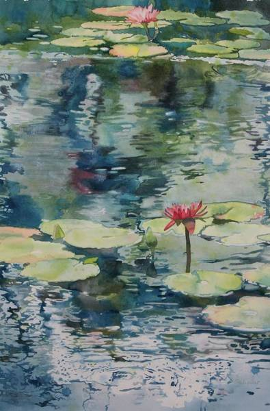 Lilly Pad Painting - Nymph Echo by Sandrine Pelissier