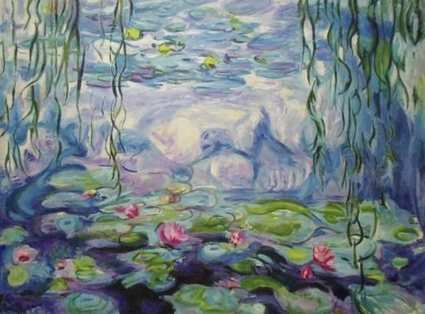 Painting - Nympheas Apres Monet by Nicolas Bouteneff