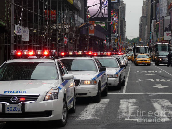 Photograph - Nypd Convoy by Steven Spak