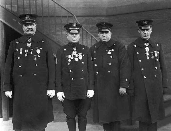 Legion Of Honor Photograph - Nypd Honor Legion Members by Underwood Archives