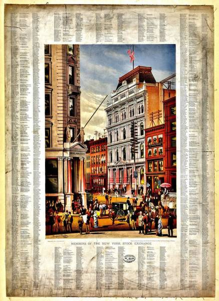 New Market Photograph - Nyse 1882 by Benjamin Yeager
