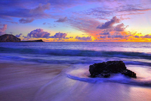 Art Print featuring the photograph Oahu Sunrise by Dustin  LeFevre