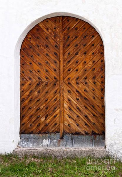 Photograph - Oak Double Door by Les Palenik
