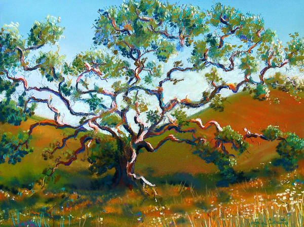 Tortuous Painting - Oak In Meadow by Robin Coats