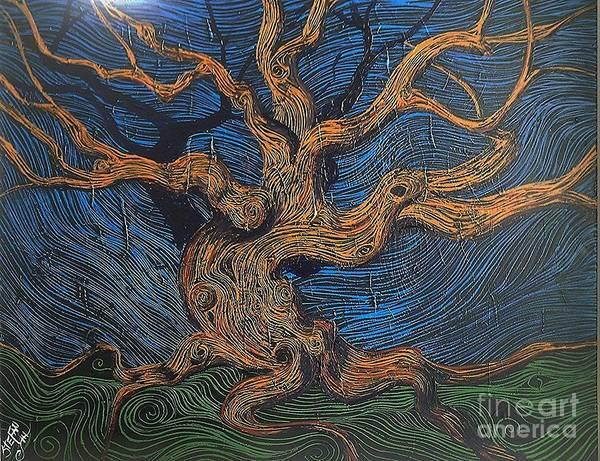 Angel Oak Painting - Oak In The Weave by Stefan Duncan