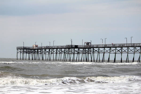 Photograph - Oak Island Beach Pier by Cynthia Guinn