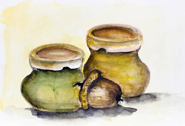 Protein Painting - Oak Oil by Irina Gromovaja