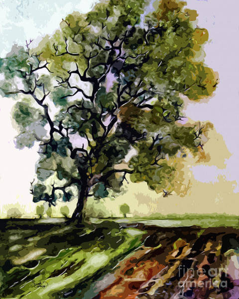 Painting - Oak Tree In Late Summer by Ginette Callaway