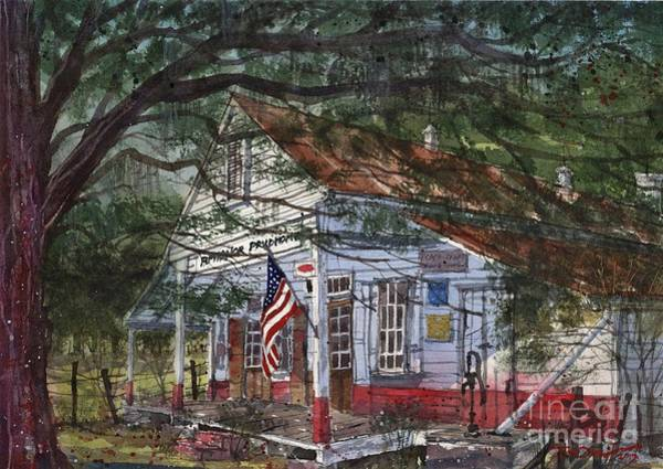 Bermuda Wall Art - Painting - Oakland Plantation Store by Tim Oliver