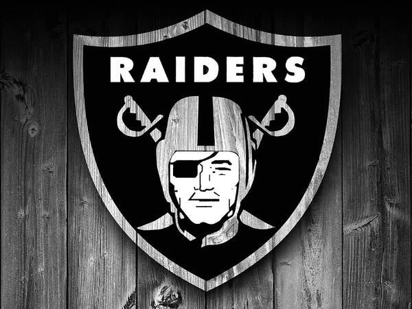 Digital Art - Oakland Raiders Barn Door by Dan Sproul