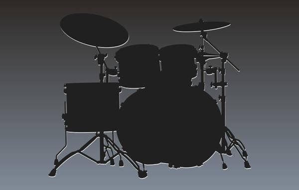 Drum Player Wall Art - Photograph - Oakland Raiders Drum Set by Joe Hamilton