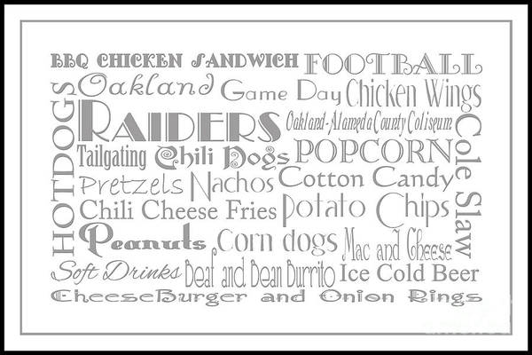 Digital Art - Oakland Raiders Game Day Food 3 by Andee Design