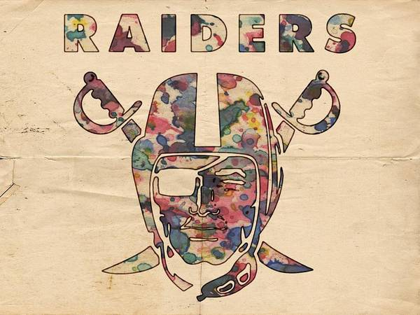 Painting - Oakland Raiders Logo Art by Florian Rodarte