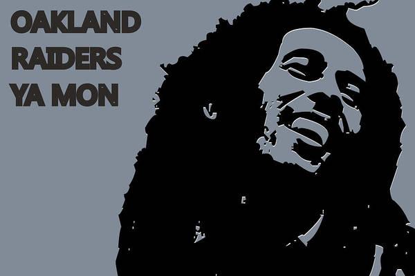 Drum Player Wall Art - Photograph - Oakland Raiders Ya Mon by Joe Hamilton